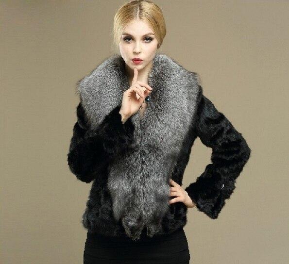 New genuine pelliccia di visone con grande collo di pelliccia di volpe  visone inverno gilet di pelliccia donne breve più il formato Libera Il  trasporto H648 ded72770441