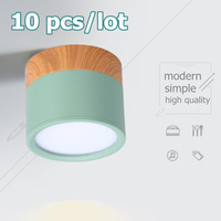 10PCS Surface Mounted 5W/12W LED downlight Ceiling Lamps LED spot lights 220V Ceiling Fixtures Lighting 5 colors down lamp