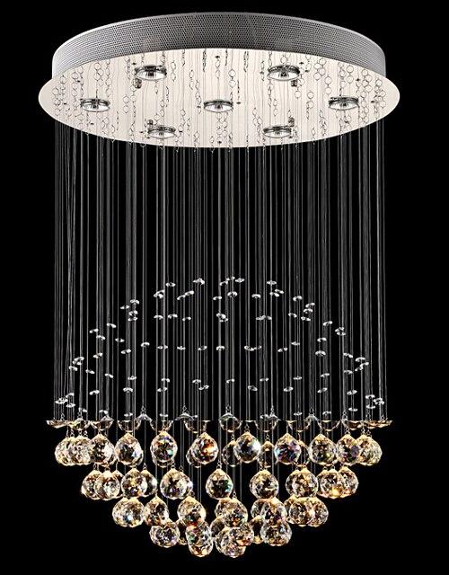 moderna lmpara de techo de cristal bolas de cristal k9 cortina llev la luz de techo de cristal de luz luces de la sala dormitorio luces en las luces del - Lamparas De Techo De Cristal