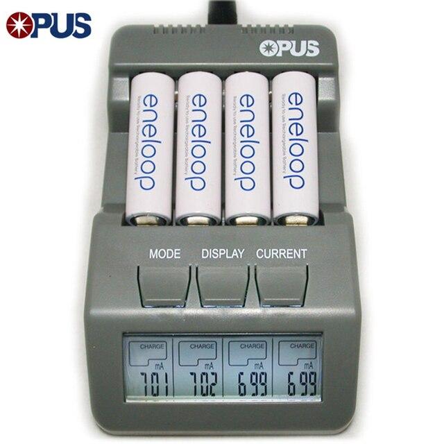 الأصلي أوبوس BT-C700 البلى نيمه شاشة رقمية LCD ذكي 4 فتحات البطارية سريع شحن شاحن ل 14500 16340 AA AAA
