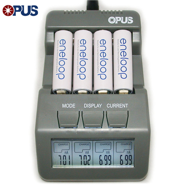Original Opus BT-C700 NiCd NiMh LCD Screen Digital Intelligent 4 Slots Battery Fast Charging Charger For 14500 16340 AA AAA