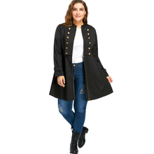 Plus Size Double Flared Chest Long Jacket Winter Fashion Layer Trench Women Large Size Oversized Coats