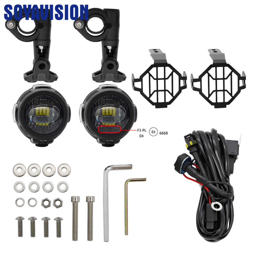 For Bmw Universal Motorcycle Parts Foglight Protector Guards Spotlight Cover Fog Lights With