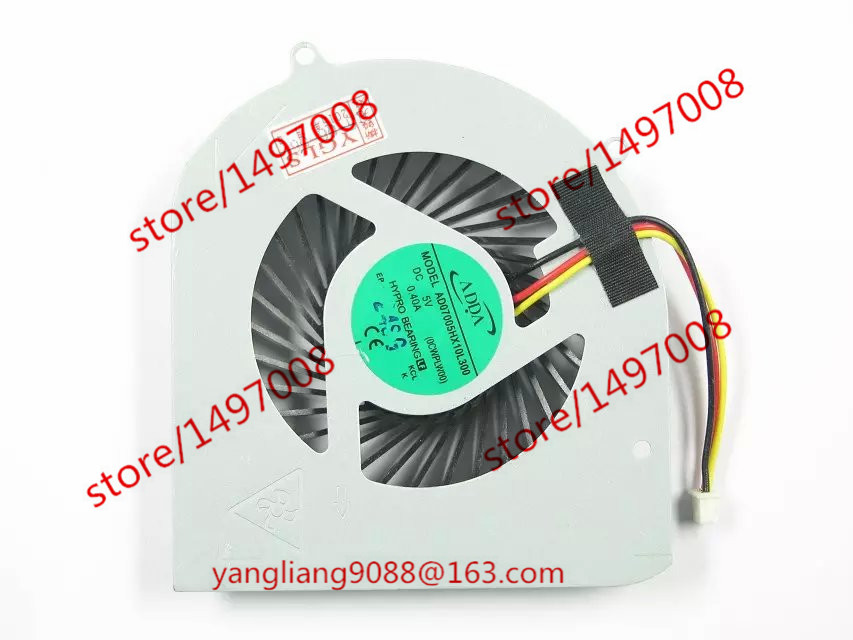 все цены на  ADDA Original New AD07005HX10L300 0CWPLW00 DC 5V 0.40A 3-wire 3-pin DELL XPS 14Z XPS1414Z Laptop fan  онлайн