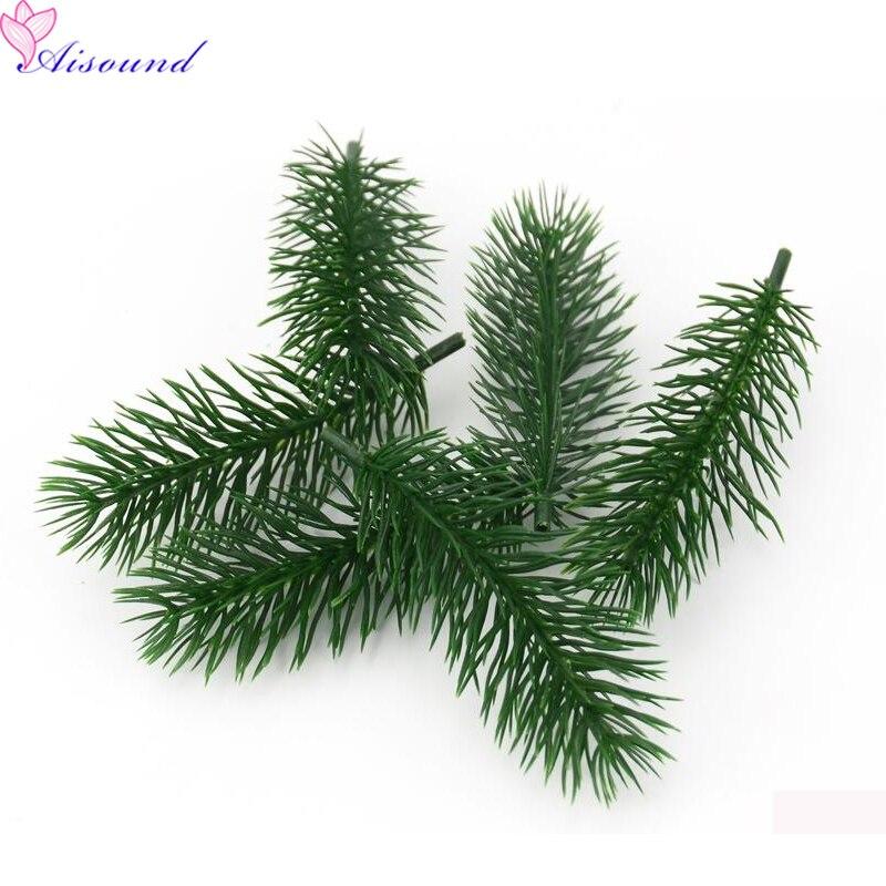 8 шт. 10 сосновые иглы искусственное растение искусственный цветок филиал для елки Декор Аксессуары самодельный букет подарочная коробка