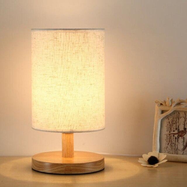 2019 MỚI Đầu Giường Đèn Đêm Ánh Sáng Trắng Ấm Bóng Đèn Thay Đổi Độ Sáng Quà Tặng đèn Bàn Gỗ đèn Bé Ngủ Ánh Sáng Trang Trí Chiếu Sáng Trong Nhà