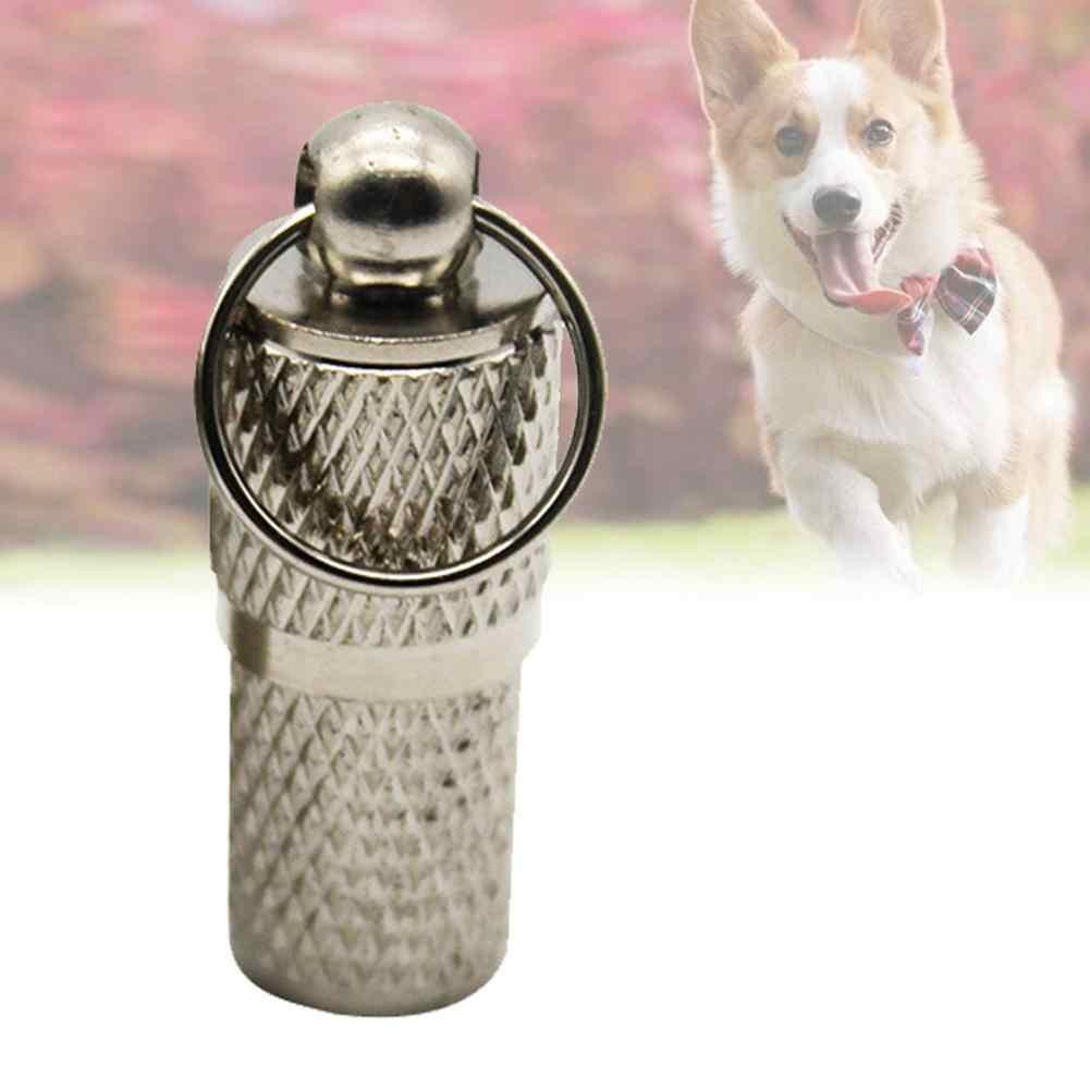 โลหะลูกสุนัขสัตว์เลี้ยง Anti - Lost ID ชื่อที่อยู่: กระบอกรูปร่างสุนัขจี้แท็กสุนัข