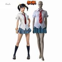 Ainclu Customize Free Shipping Tekken Blood Vengeance Ling Xiaoyu Sailor Game Unimform Adult Kid Halloween Cosplay Costume