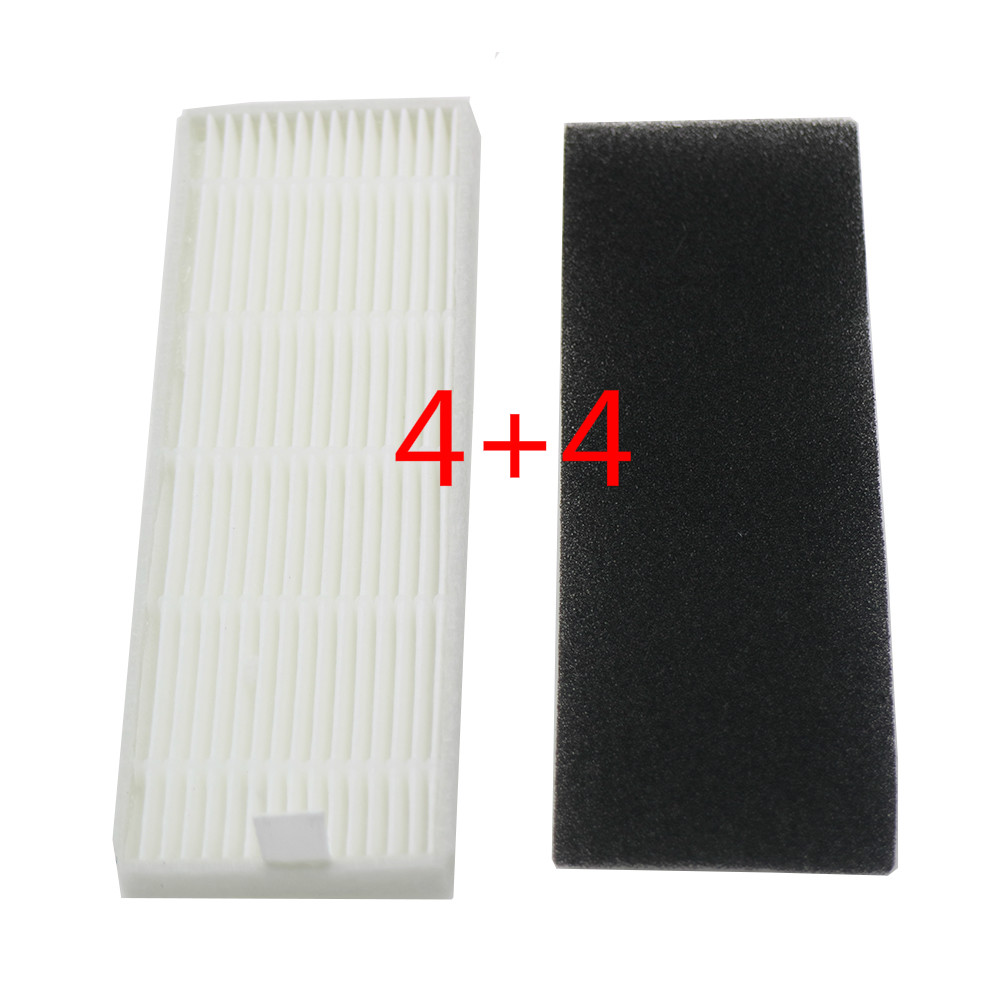 4set Of HEPA Filter Filter Cotton For New Products Ilife A4s A6 A4 A40 /Ecovas DN621 X620 Robot Replacement Filter Vacuum