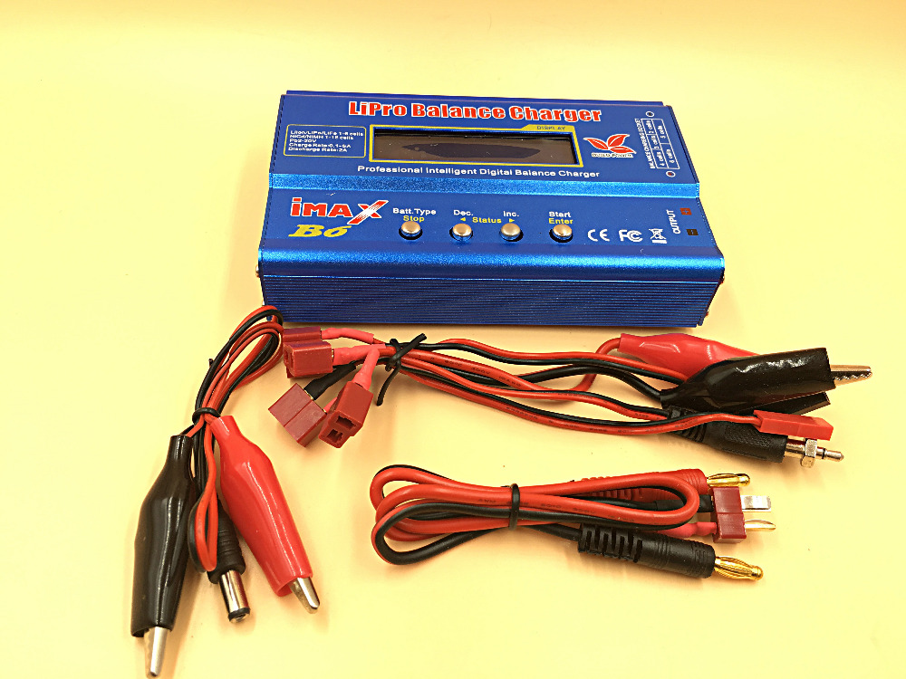 BUILD-POWER IMAX B6 RC Lipo NiMh Battery Digital Balance Charger with T Plug or Tamiya Connector Calbe