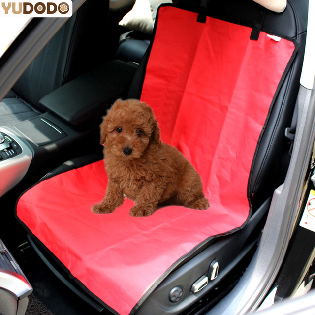 110*49cm Waterproof Dog Car Seat Cover Black/Blue/Red Solid Front ...