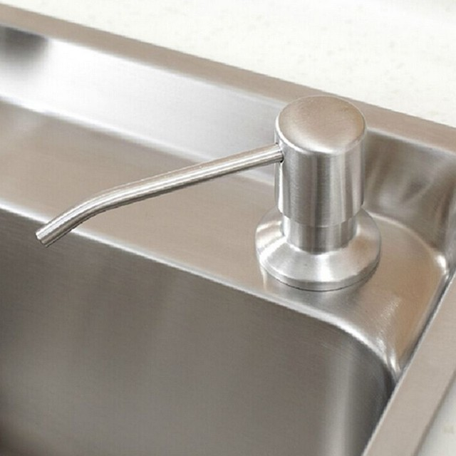 Brushed Stainless Steel Kitchen And Bathroom Liquid Soap Dispensers Sink  Dish Dispenser Bottle Soap Dispenser Bathroom