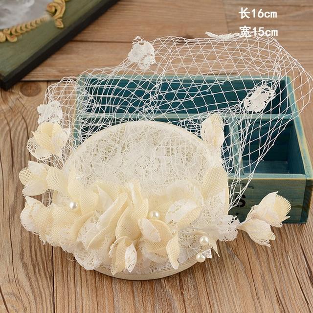 Elegant Lace Bridal Hats 2017 Pearls Flowers Wedding Hat Veil Real Sample Birdcage Veil Hat For Wedding Wedding Accessories BH01