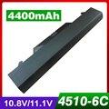 4400 mah bateria do portátil para hp 591998-141 593576-001 hstnn-1b1d hstnn-ob89 nz375aa hstnn-ib89 probook 4510 s 4515 s 4710 s