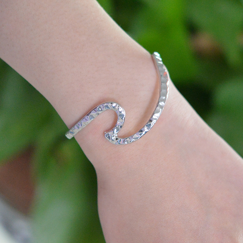 kingfisherdesigns silver bracelet ocean wave by pin sterling