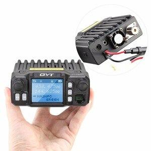 Image 2 - QYT KT 7900D mobil araç radyo walkie talkie 10 km quad band fm mobil radyo alıcı verici Mini araç mobil radyo