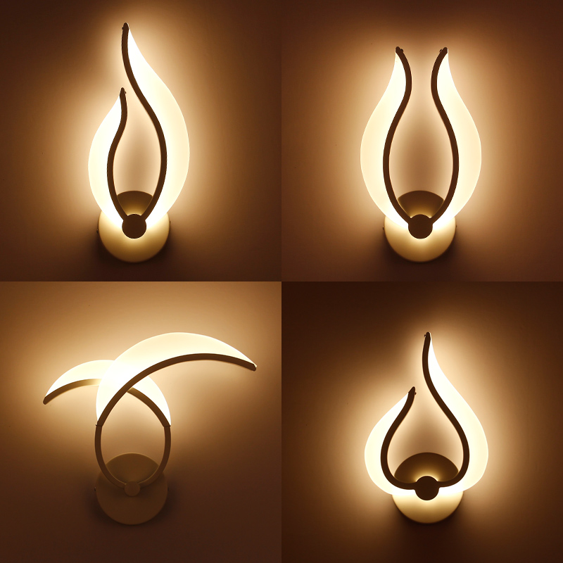 Moderni Modern Brief Led Wall Light 9w Sconces Lights In Bedroom As Bedside Lamp Lamps Bathroom Vanity Lamp Painted Lights