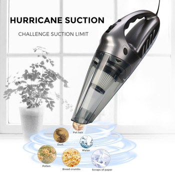 Franchise Aspirateur 12V 120W Hand Vacuum Cleaner,75dB Silent Pet Hair Vacuum For Home & Car Cleaning With Manual Aspiradores