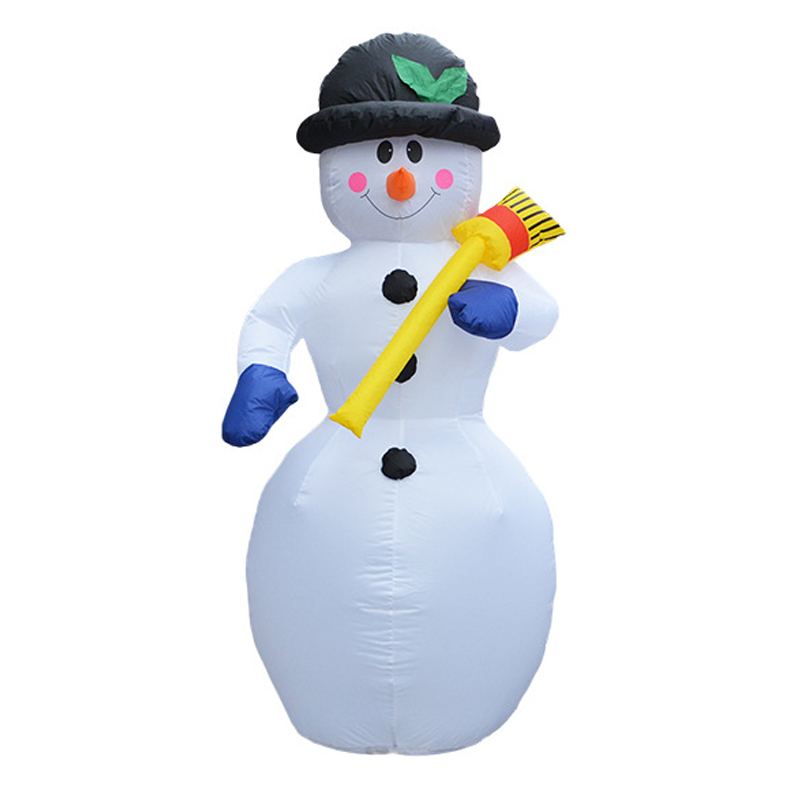 180cm Giant Snowman Inflatable Illuminated Toys Santa Claus LED Lighted Christmas Oktoberfest Props Winter Party Yard Decoration цены онлайн