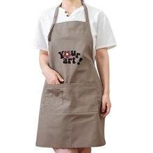 Couple home Korean fashion apron Milk tea shop supermarket painting kindergarten work clothes