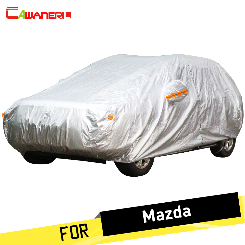 Cawanerl Car Cover Sunshade Vehicle Outdoor Rain Sun Snow Protection Dust Proof Anti UV Car Covers