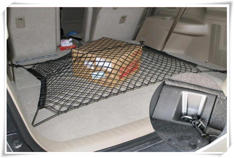 Car Trunk Cargo Mesh Net 4 Hook Car Luggage For Mercedes. Benz W211 W204 W220 W163 W164 W203 C S E SLK GLK CLS M GL accessories image