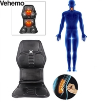 Heated Seat Cushion Car Massage Pad Auto Home Office Full Body Neck Waist Relaxation Multifunction Pad