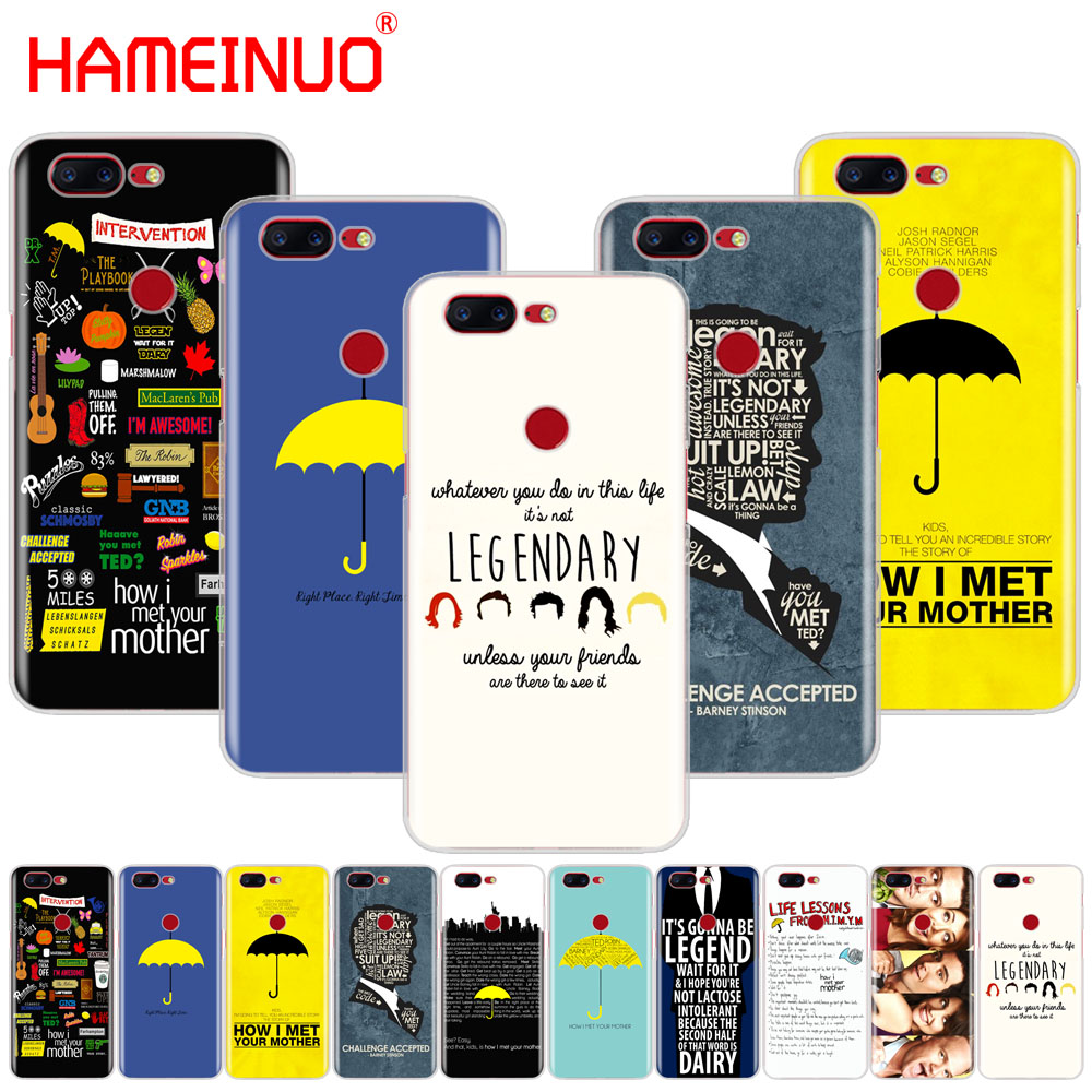 HAMEINUO how i met your mother himym quotes cover phone case for Oneplus one plus 6 5T 5 3 3t 2 X A3000 A5000