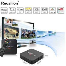 RECALLION Smart TV Box Android 7.1 2GB Ram 8GB/16GB Rom Rockchip RK3229 3D 4K HDR USB3.0 H.265 Google Play IP TV Set Top Box стоимость