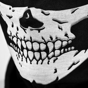 Image 4 - 1 Piece Motorcycle Scarf Skull Ghost Scarf Biker Face Shield Face Neck Scarf Balaclava Halloween Masquerade Unisex