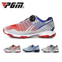 PGM Sports Shoes Non slip Sneakers Men's Button Buckle Shoe Double Patent on foot Cyclists Golf Men Shoe Soft comfortable 2019
