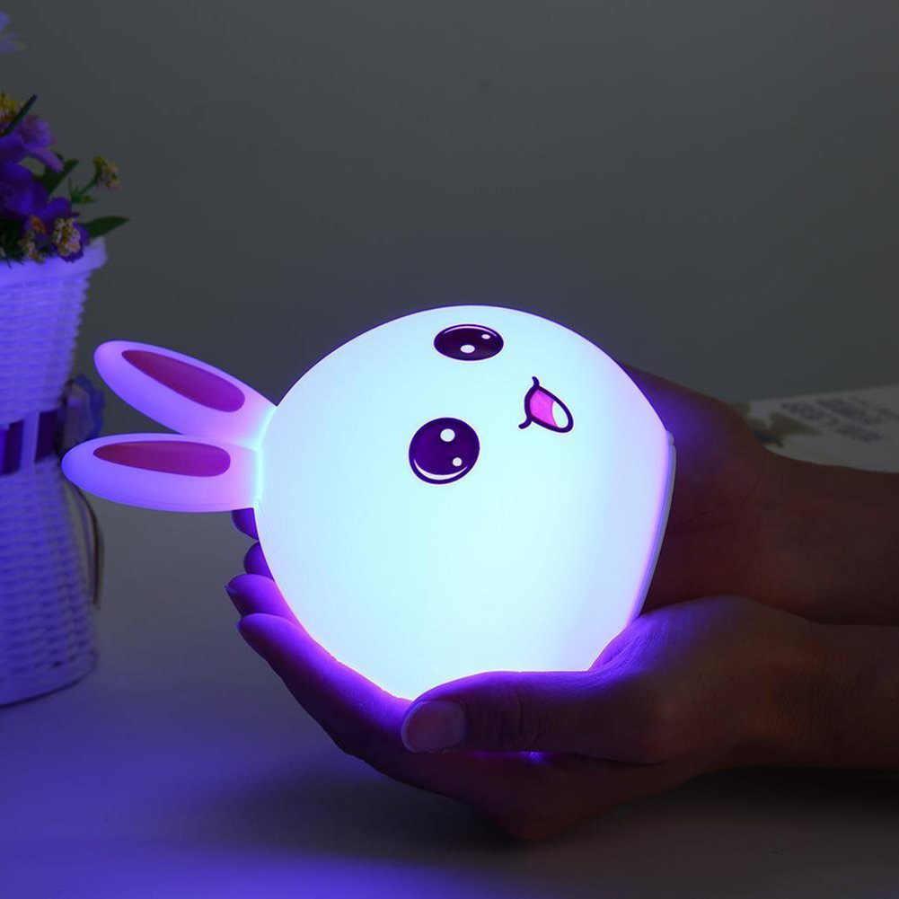 Rabbit Lamp Bunny Led Night Light Children S Nightlight Baby Sleeping Bedside Lamp Usb Silicone Tap Control Touch Sensor Light Children S Nightlight Led Night Lightnight Light Aliexpress