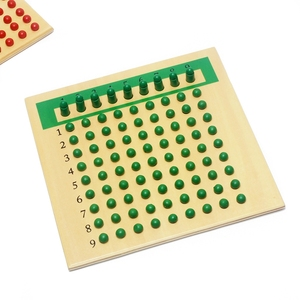 Image 5 - Matériaux Montessori en bois, jouets denseignement des mathématiques, Multiplication et Division de jouets mathématiques, planche à perles apprentissage rouge vert
