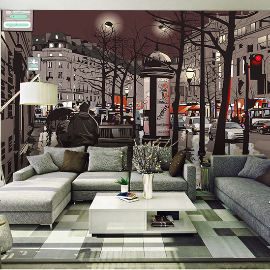 Large Night City Street 5d Papel Murals Wall paper 3d Wall Mural Wallpaper for Living Room Sofa Background 3d Wall Photo Mural custom 3d photo wallpaper mural nordic cartoon animals forests 3d background murals wall paper for chirdlen s room wall paper