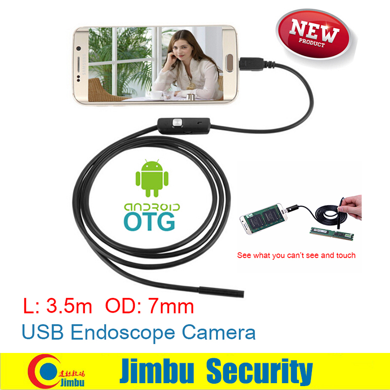3.5M Android Endoscope Mini Camera OTG Phone 7mm lens inspection Pipe IP67 Waterproof Side mirrors 130W HD micro USB Camera 7mm lens mini usb android endoscope camera waterproof snake tube 2m inspection micro usb borescope android phone endoskop camera