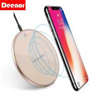 Deenor Qi Wireless Charger Pad with Anti-Slip and All Qi-Enabled Devices Quick for iphone & Android Phone