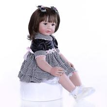 Bebe Reborn Silicone Reborn Baby Doll 60cm reborn baby doll Realista Birthday Gift Christmas Doll Kids Toys Juguetes Brinquedos цены