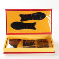 Buffalo Horn Guasha Board Set Massage Guasha Board Horn Gua Sha Massage Board Scraping Plate