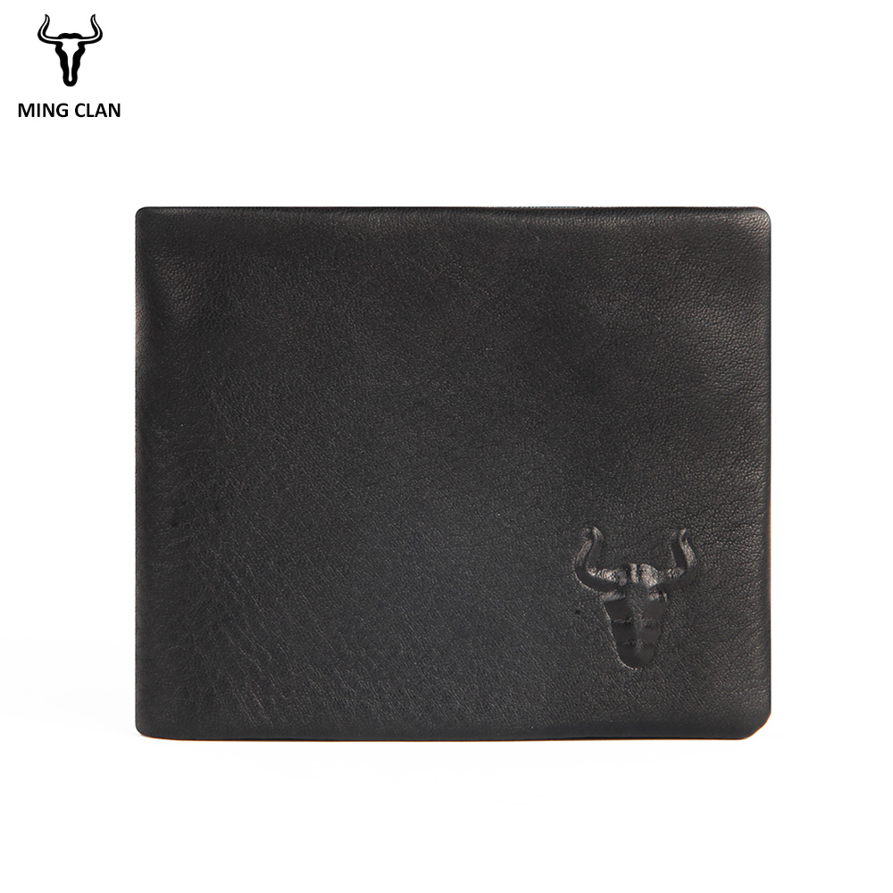 Mingclan Genuine Leather Wallet Men Coin Purse Male Cuzdan Small Wallet Portomonee Portfolio Slim Mini Purse Wallet Money Bag children autumn and winter warm clothes boys and girls thick cashmere sweaters