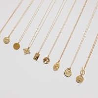 Ожерелье с монетами, серебро 925, чокер-колье, Золотая подвеска, шарм, минимализм, Ретро стиль, Boho Bijoux Femme, колье, ожерелье для женщин, ювелирное ...