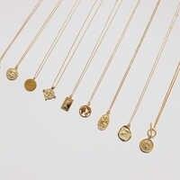 Coin Necklace 925 Silver Choker Kolye Gold Pendant Charm Minimalism Vintage Boho Bijoux Femme Collier Necklace Women Jewelry