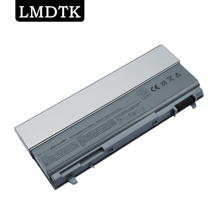 LMDTK New 12 CELLS Laptop Battery For Dell Latitude  E6400 E6410 E6500 E6510 PT434 PT435 PT436 PT437 Free shipping