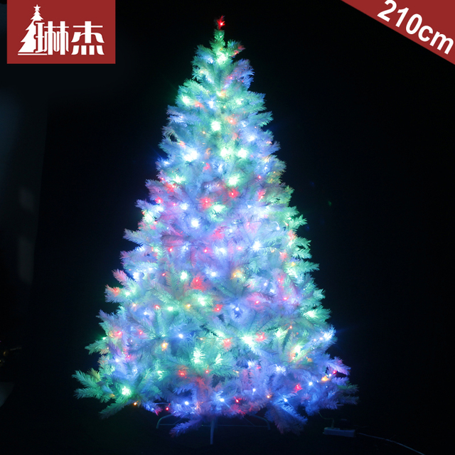 lin jie 210cm 21 christmas tree package christmas ornaments led lights decorate white christmas tree - How To Decorate A White Christmas Tree In Blue