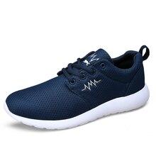 Summer Men Casual Shoes Men's Zapatillas Deportivas Hombre  Male Platform Zapatos, Breathable Mesh Men Shoes Plus Size 39-44