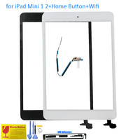 New For IPad Mini Touch Screen Glass Digitizer Assembly With IC Connector Home Button Full Set