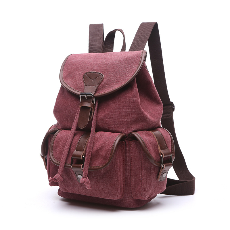 Image 3 - Scione Multifunction Canvas Backpack Drawstring Large Capacity Backpack Men Women Travel Rucksack School Shoulder Bag Mochilabag mochilacanvas backpack drawstringlarge capacity backpack -