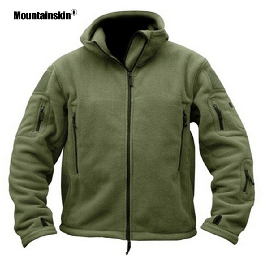 Mountainskin Men Fleece Winter Autumn Jackets Hooded Outdoor Hiking Jacket Fishing Camping Sport Trekking Brand Men Coats VA287