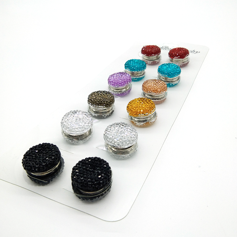 Magnet Hijab Pins Brooches Wholesale 12PCS Magnet Brooch Pin Muslim For Women Safety Scarf Pins Hijab Mixed Color