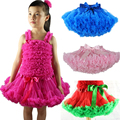 Baby Girls Chiffon Fluffy Pettiskirts Tutu Princess Skirts Ballet Dance Wear Party Costume Baby Girl Clothes Free Shipping