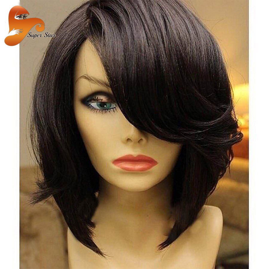 Cheap Bob Human Hair Lace Front Wigs For Black Women